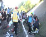 Sakarya'da otobüs şarampole yuvarlandı