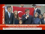 Başbakan Davutoğlu'nun boğazı düğümlendi