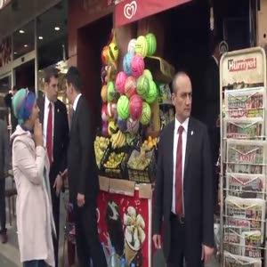 Erdoğan, oğlu ve torunuyla market alışverişinde