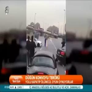 Trafikte konvoy terörü