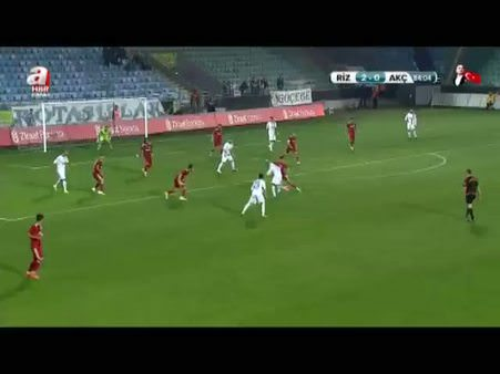Ç. Rizespor: 3 - Trabzon Akçaabat: 0