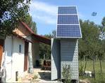Güneş enerjisiyle elektrik üretti