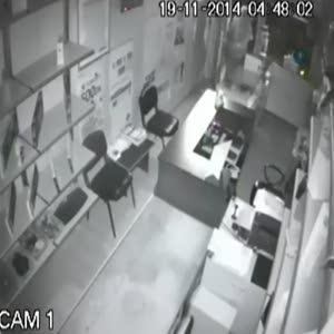 Şaşkın hırsızlar kamerada