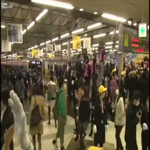 Üç buçuk saatte tren istasyonu metroya çevrildi