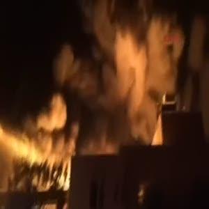 Kimya fabrikasında büyük yangın işte o anlar
