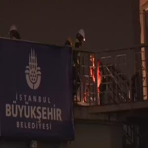 Sirkeci'de tarihi üst geçit kaldırılıyor