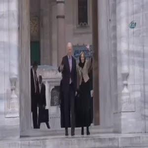 Joe Biden Süleymaniye Camii'nde