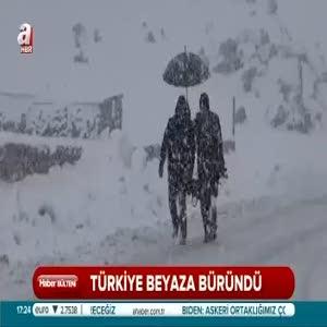 Türkiye beyaza büründü!