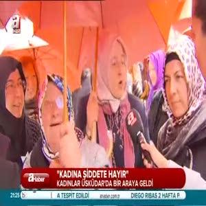 Kadınlar şiddette karşı toplandılar