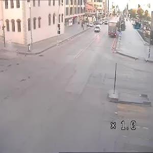 Erzurum'daki trafik kazaları MOBESE kameralarında