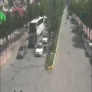 Erzurum'da araçların yayaları çarptığı kazalar