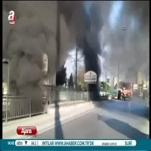 Fatih'teki Topkapı alt geçidinde yangın çıktı