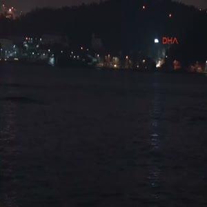 İstanbul Boğazı'nda yunus balıkları şov yaptı