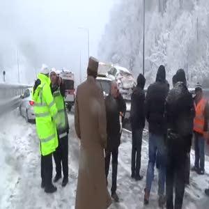 Bolu Dağı'nda zincirleme trafik kazası