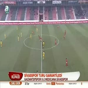 Gaziantepspor: 0 - Sivasspor: 2 (Özet)