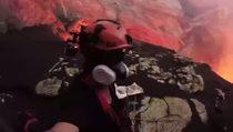 Volkan kraterinin drone ile çekilen görüntüleri