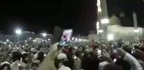 Erdoğan'a Mescid-i Nebevi'de sevgi gösterisi
