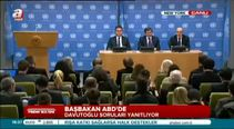 Davutoğlu, New York'ta gazetecilerin sorularını cevapladı