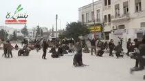İdlib'i ele geçiren muhaliflerin zafer sevinci