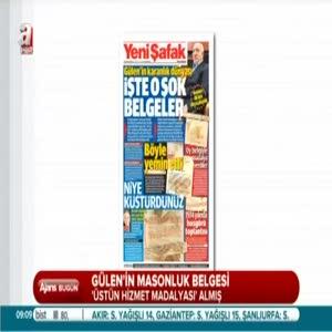 Gülen'in masonluk belgesi