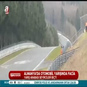 Otomobil yarışında facia anı!