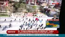 Cumhurbaşkanı Erdoğan, tanıtım turunda pedal çevirdi