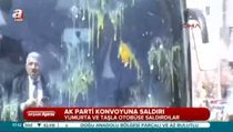 Van'da AK Parti konvoyuna saldırı