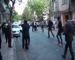 Ateş açan saldırganı halkın elinden polis aldı