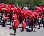 ABD'nin başkentinde dev Türk bayrağı