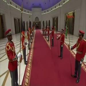 Cumhurbaşkanı Erdoğan, Kuveyt'te resmi törenle karşılandı