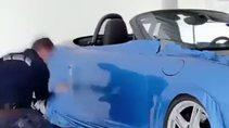 Porsche marka aracı böyle kapladılar