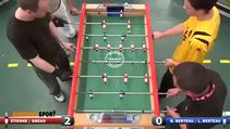 Langırt maçında harika gol