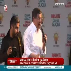 Davutoğlu Kayseri'de halka seslendi