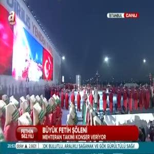 Mehteren Birliği Fetih Şöleni'nde konser verdi