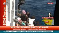 Göçmen teknesi battı: Ölü ve yaralılar var