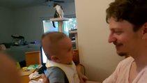 """""""Seni Seviyorum"""" diyen 3 aylık bebek"""