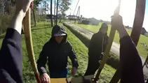 GoPro ile dev salıncakta harika görüntüler yakalayan adam