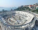 Çökme yaşanan Vodafone Arena görüntülendi
