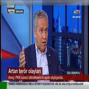 Bülent Arınç NTV sunucusunu fena bozdu