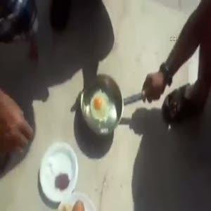 Adana'nın sıcağı yumurta pişirdi