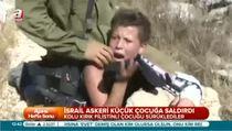 İsrail askerinden çocuğa işkence