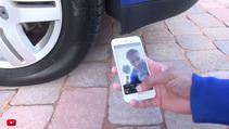 Yeni iphone 6s ve otomobille üstünden geçme testi