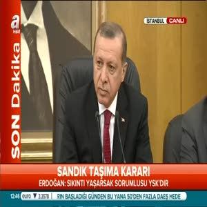 """Erdoğan: """"Şiddettin her zaman karşısındayız"""""""