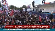 Davutoğlu Erzurum'da halka hitap etti