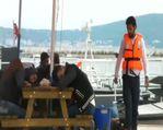 Balıkesir'in Ayvalık ilçesinde 56 Suriyeli sığınmacı yakalandı