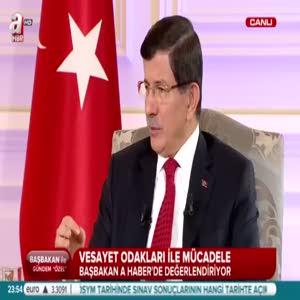 """Davutoğlu:"""" Basın özgürlüğü hakaret etmeden olmalı"""""""