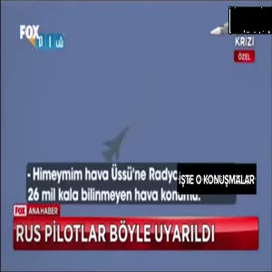 Rus uçağı böyle uyarıldı