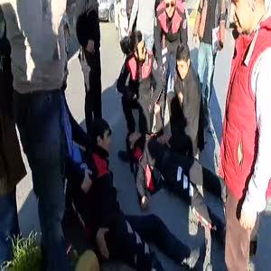 Yunus ekipleri kaza yaptı: 2 polis hafif yaralı
