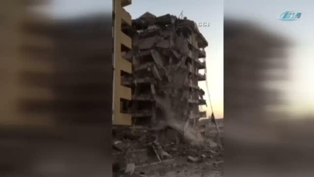120 kilo patlayıcının yıkamadığı bina tek darbeyle böyle yıkıldı