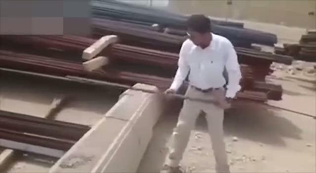 İran malı inşaat demiri parça parça oldu